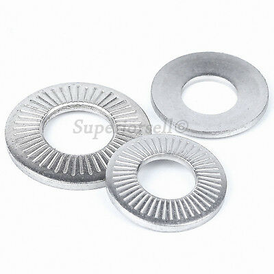 M3 M4 M5 M6 M8 M10 M12 M16 A2 Stainless Steel Toothed Shakeproof Lock Washers