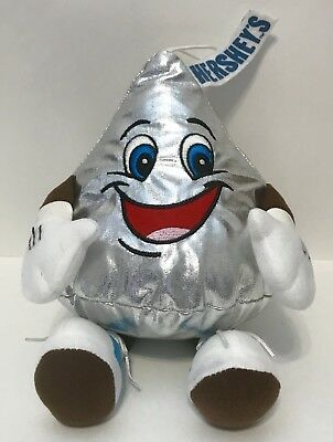 "Hershey Park Souvenir 10"" Silver Kiss Plush Doll Stuffed Toy Chocolate World"