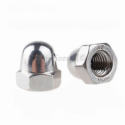 """8# 10# 1/4"""" 3/8"""" 5/16"""" Acorn Cap Dome Nuts - A2 304 Stainless Steel"""