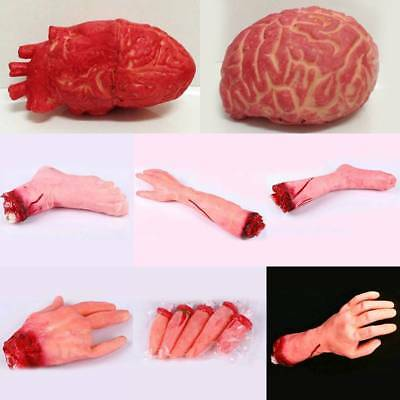 Severed Hand Scary Bloody Fake Human Body Parts Halloween Decor Prop Cosplay