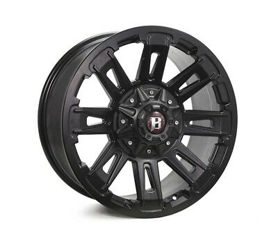 LDV T60 WHEELS PACKAGE: 22x9.5 Ballistic Ravage Flat Black and Pace Tyres