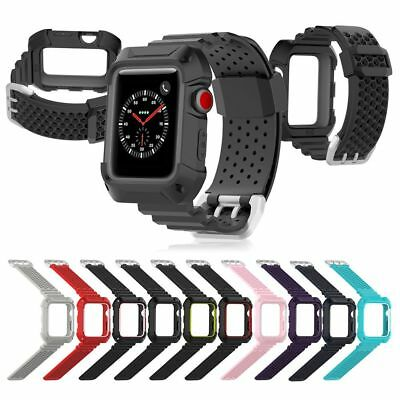 Silicone Strap Watch Band + Frame For Apple Watch Series 3 2 1 iWatch 38/42mm