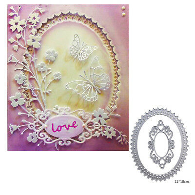 elliptical lace cutting dies stencil scrapbook album paper embossing craft diyBN