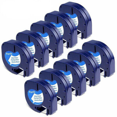 10PK LT 91330 Label maker Tape Compatible for DYMO LetraTag refill 12mm(1/2'')