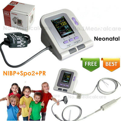 FDA Infant Blood Pressure Monitor neonatal spo2 nibp , pc sw+Charge cable, USA