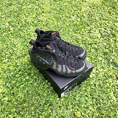 "Nike Air Foamposite Pro ""SEQUOIA"" Black Team Orange QS DS 624041-304 Mens US8-14"