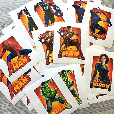 16pc Avengers vinyl sticker Iron Man Hulk Capitan America Thor Spiderman Hawkeye