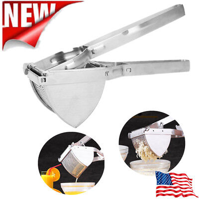 Stainless Steel Potato Ricer Masher Juicer Puree Fruit Vegetable Press Maker US