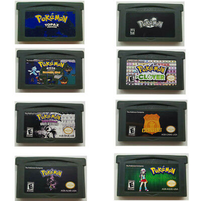 Pokemon Game Boy Advance Creepy Black, CAWPS, Cursed, MegaPower, Clover GBA