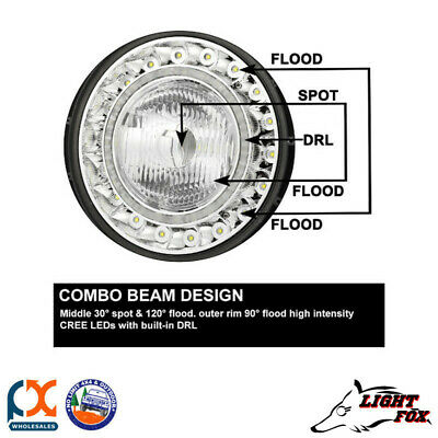 Lightfox Beacon Series 9Inch Black Cree Spot Led Driving Light