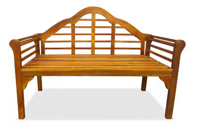2 Seater Garden Bench Wooden Acacia Curved Patio Furniture Seating Hardwood