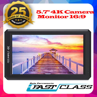 "Feelworld F6 5.7"" inch IPS Full HDMI 1920x1080 4K Camera DSLR Field Monitor"
