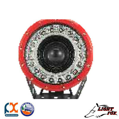 Lightfox Beacon Series 9Inch Red Cree Spot Led Driving Light