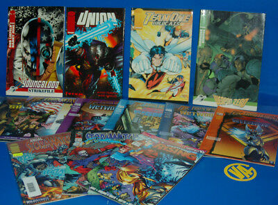 Batch of comics Image-4 tomos + 9 numbers loose UNION-TEAM ONE-WAPON ZERO