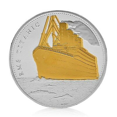 TITANIC Journey Silver/Gold Good Luck Token Coin US SELLER FAST SHIPPING