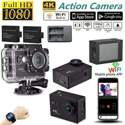 HD 4K WIFI Sports DV Action Camera 1080P Waterproof Remote Camcorder F68R DVR