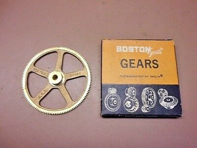 "NOS BOSTON GEAR G-187 Bronze Worm/Spur Gear 5/16"" Bore Original Box Nice One!"