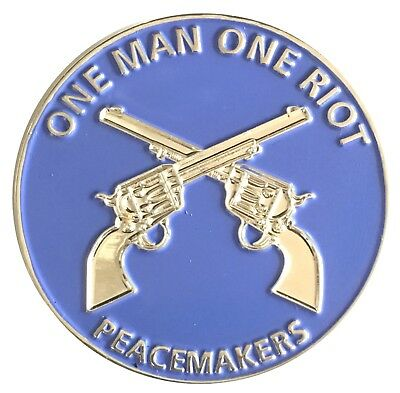 One Man One Riot Peacemakers Oath Challenge Coin US SELLER FAST SHIPPING
