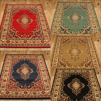 Traditional Small To Large Oriental Budget Keshan Rugs Runner Free Uk Delivery*