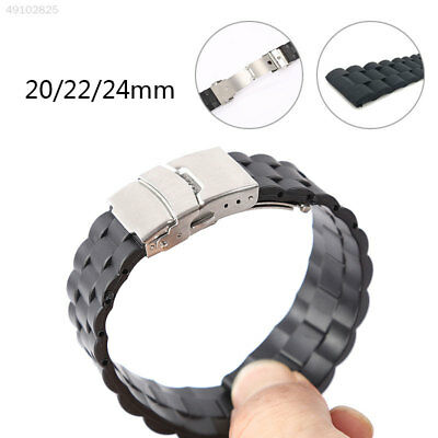 Genuine Watch Band Silicone Quick Release Replacement Belt Solid
