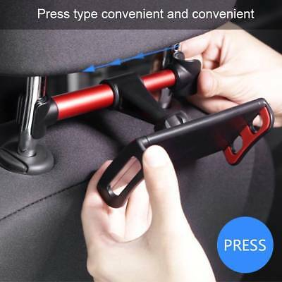 Car Back Seat Headrest Mount Holder Stand Bracket For Phone Tablet Adjustable