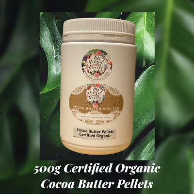 Cocoa Butter Pellets 100g Pure Natural- Hydrating -Theobroma Cacao Seed Butter