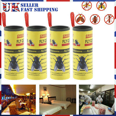 STICKY FLY BUG WASP PAPER CATCHER TRAP INDOOR GREENHOUSE INSECTS KILLER 8/20/40x