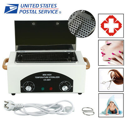 DRY HEAT STERILIZER Cabinet Autoclave Magnifier Tattoo Disinfect ...