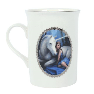 Anne Stokes boxed mug featuring the Unicorn design Blue Moon