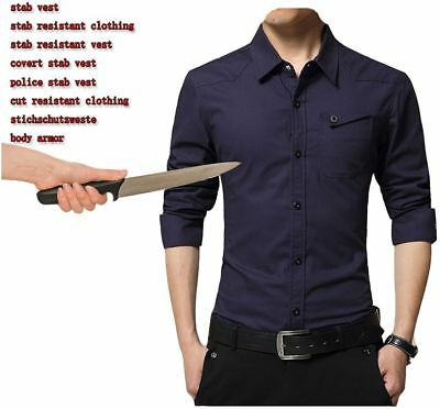Self-Defense Tactical SWAT POLICE Anti  Stab Resistant FASHION SHIRT long sleeve