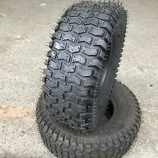 2x 11x4.00-5 4PR Lawn mower Golf Grass cutting new turf tyres 11 4 5 x2 ( Pair )