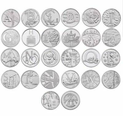 Uk Coins 10P Alphabet A- Z Circulated 2018 Coins Pick Or Choose From The List