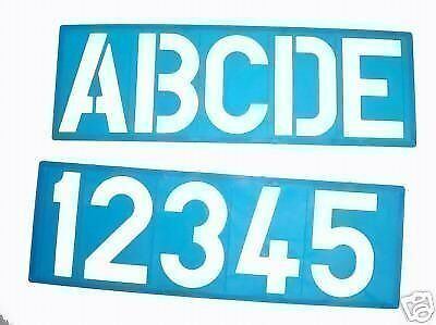 100Mm Alphabet Stencil Signwriting Upper Case  Numbers