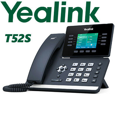 Yealink SIP-T52S Dual Gigabit Enterprise Business Media IP Phone Linux HD PoE