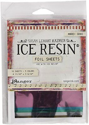 Ice Resin Foil Sheets -Mardigras,