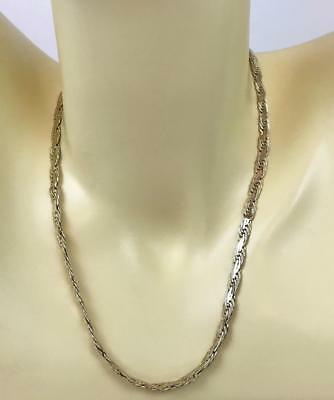 """VTG 20"""" SOLID 14k Gold Italy Italian Rope Link Chain Byzantine Necklace - Unisex"""