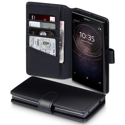 Terrapin Real Leather Wallet Case for Sony Xperia L2 - Black