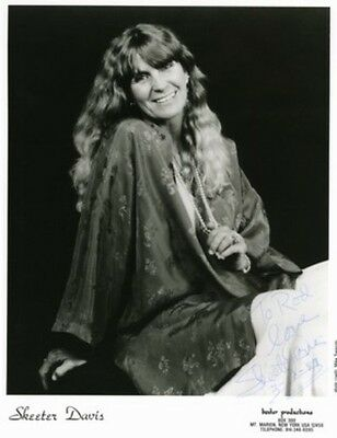 Guaranteed 8x10 Autographed by Deceased country singer Skeeter Davis (Inscribed)