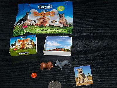 Breyer Pocket Box Dogs set - includes both dogs, box, bag, dish and sticker!