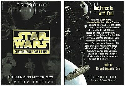 Star Wars-60 Card Game Starter Pack-UNLIMITED EDITION-New-Neu-very rare-selten