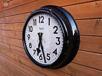 An Incredible Smiths Very Large Wall Clock. Brass 24 Inch Case. Stunning