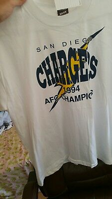 8244515af SAN DIEGO CHARGERS Vintage AFC Western Division Champions 1994 Shirt ...