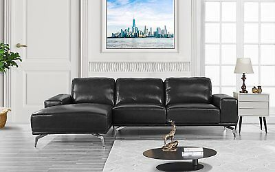 Astonishing Claremont Leather Sofa With Reversible Chaise Sectional Machost Co Dining Chair Design Ideas Machostcouk