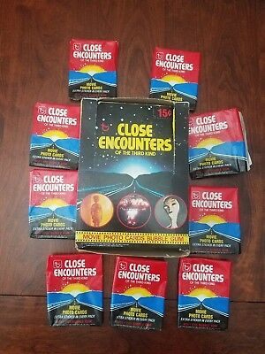 1978 Topps Close Encounters of the Third Kind Empty Wax Pack Box & 9 Wrappers