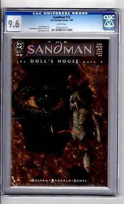 Sandman 12 CGC 9.6 W/P 'Doll House.Part 3 'Rolling Stones BK COVER' Mclean Cover