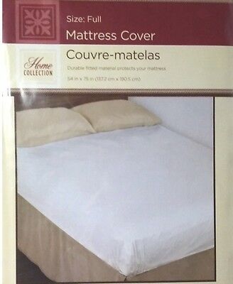 Full Size Fitted Bed Bug Dust Mite Soft Pad Mattress Protector Waterproof Cover