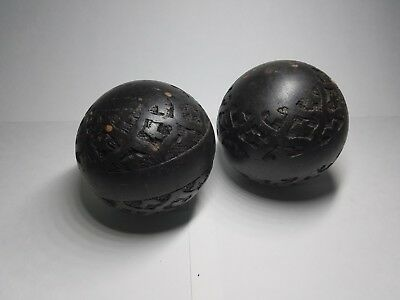 Wooden Ball Sphere Antique Vintage Staircase Bed Post Finial Hand Carved Unique