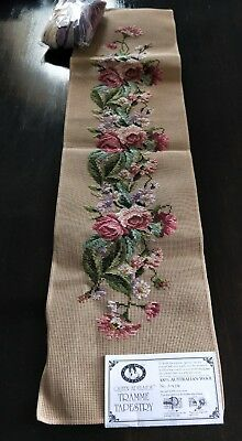 BRAND NEW QUEEN ADELAIDE Trammed TAPESTRY CANVAS & WOOL No. A434 FLOWERS