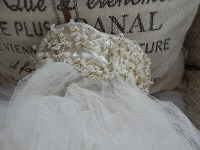 "Antique Vintage 1930's Cathedral Wedding Four Tiered Veil 164"" Sweetheart Crown"