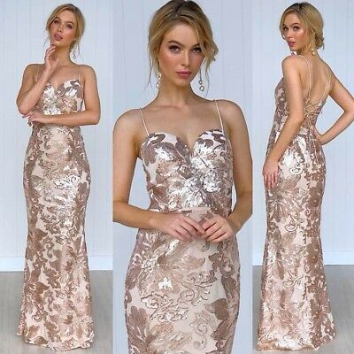 Rose Gold Gown Size 18 Formal Wedding Ball Gown